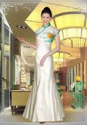 中餐厅迎宾时尚服装图片