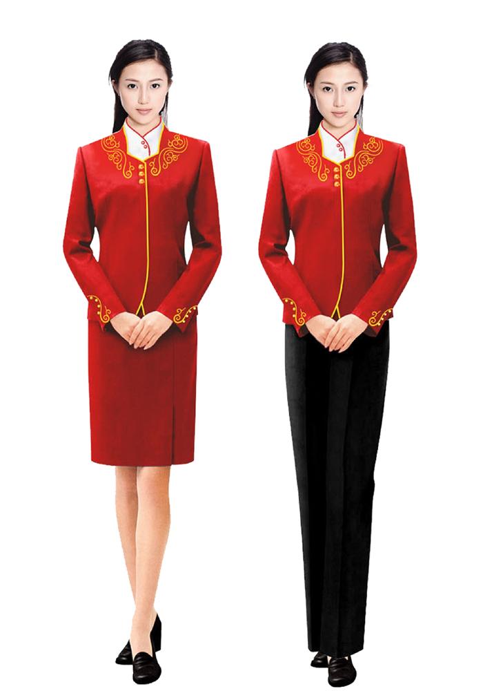 酒店前厅潮流女式制服