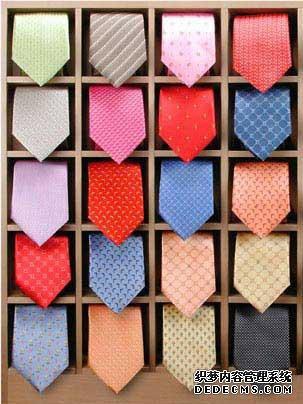 商务型男衬衫领带搭配